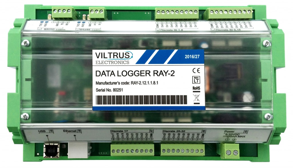 Data logger Control unit RAY2 Viltrus