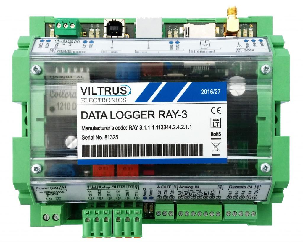 Data logger Control unit RAY3 Viltrus (1)