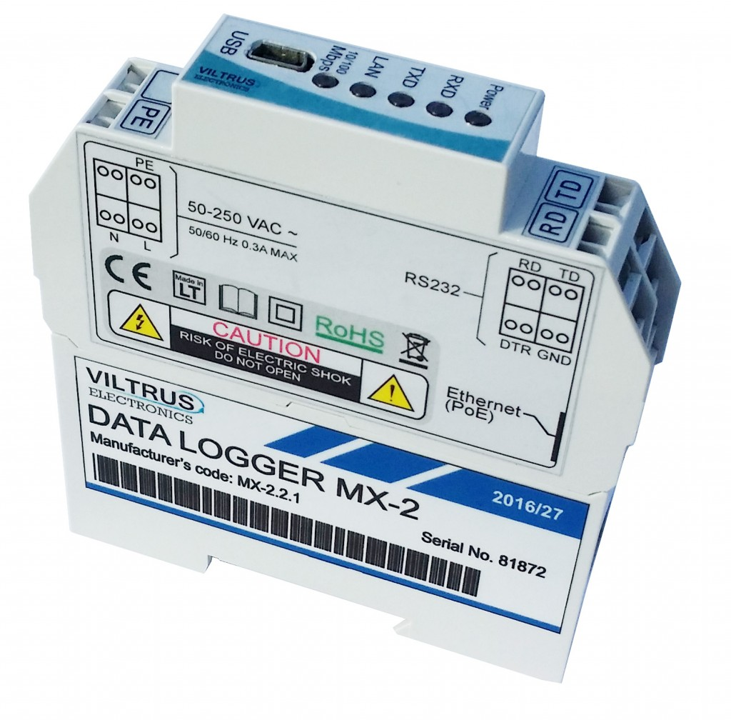 MX2 data logger VIltrus 2